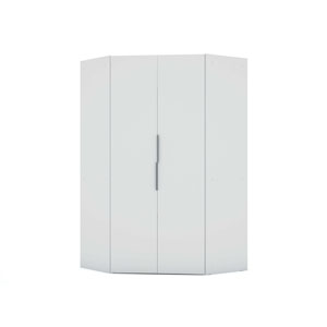 White Two Hanging Rods Storage Armoires