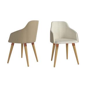 Martha Beige Accent Chair, Set of 2