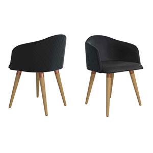 Kari Black Accent Chair, Set of 2
