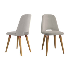 Selina Beige Accent Chair, Set of 2