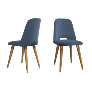 Selina Blue Accent Chair, Set of 2