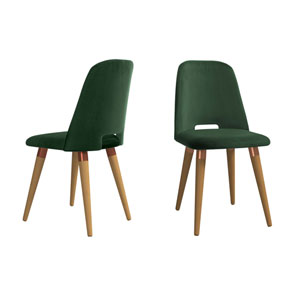 Selina Green Accent Chair, Set of 2