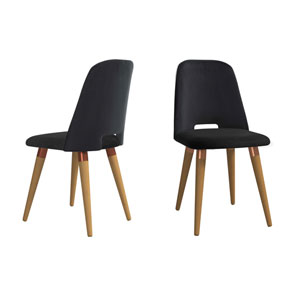 Selina Black Accent Chair, Set of 2