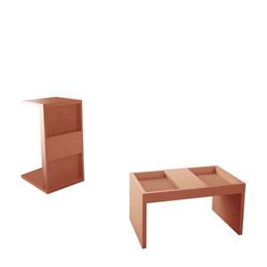 Marine Pink Coffee Table, Set of 2