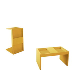 Marine Yellow Coffee Table, Set of 2