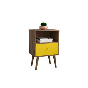 Liberty Rustic Brown and Yellow 18-Inch Nightstand