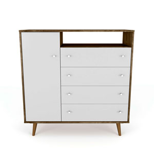 Liberty Brown and White Four-Drawer Dresser Chests