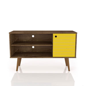 Liberty Rustic Brown and Yellow 42-Inch TV Stand