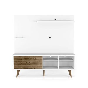 Liberty White and Rustic Brown 70-Inch Freestanding Entertainment Center