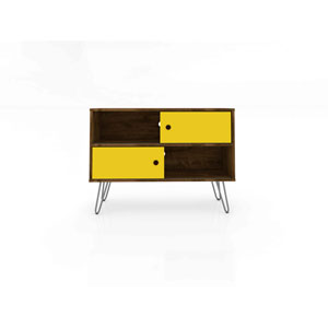 Baxter Rustic Brown and Yellow 35-Inch TV Stand