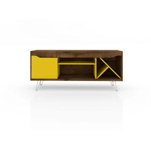 Baxter Rustic Brown and Yellow 54-Inch TV Stand