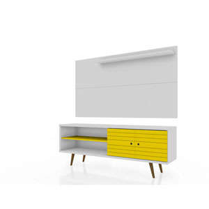 Liberty White and Yellow Entertainment Center, Set of 2