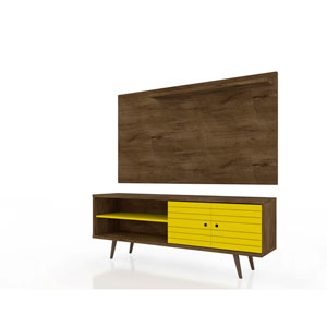 Liberty Rustic Brown and Yellow Entertainment Center, Set of 2