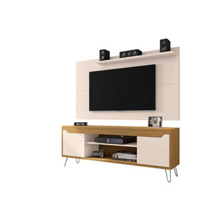 Liberty Off White and Cinnamon Entertainment Center, Set of 2