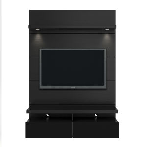 Cabrini Black Gloss and Black Matte 47-Inch Floating Entertainment Center