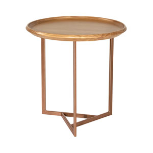 Knickerbocker Brown Round End Table