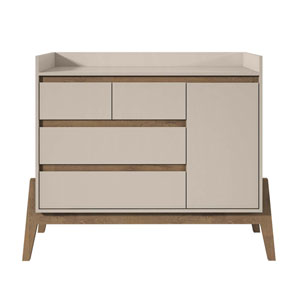 Off White and Oak 49-Inch Chests