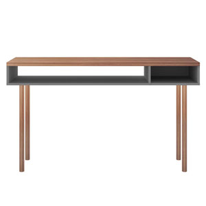 Windsor Grey Two-Shelves Console Accent Table