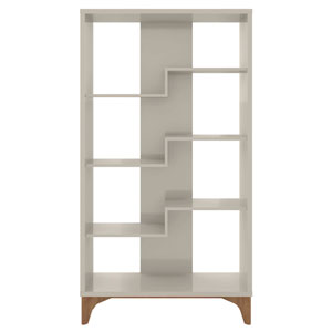 Gowanus Off White Four Shelves Display Bookcase Cabinet