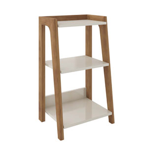 Gowanus Off White Three-Shelves End Table