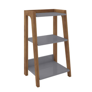 Gowanus Grey Three-Shelves End Table