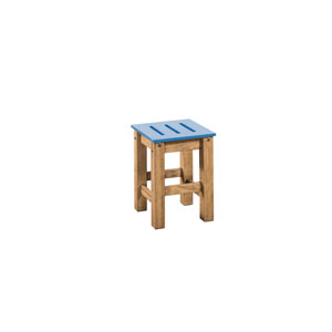 Stillwell Blue Two-Piece Barstool