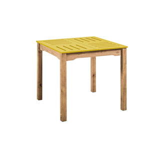 Stillwell Yellow Square Dining Table