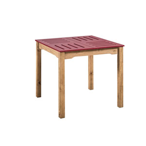 Stillwell Red Square Dining Table