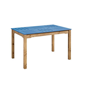 Stillwell Blue Rectangular Dining Table