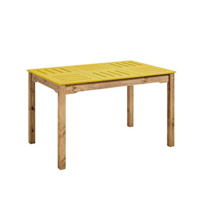 Stillwell Yellow Rectangular Dining Table