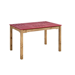Stillwell Red Rectangular Dining Table