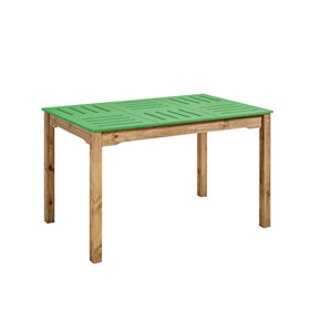 Stillwell Green Rectangular Dining Table