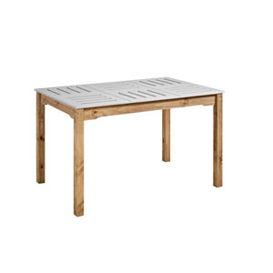 Stillwell Gray Rectangular Dining Table