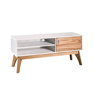 Jackie White 43-Inch TV Stand