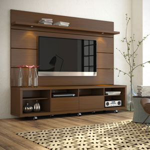 Cabrini Brown TV Stand and Panel