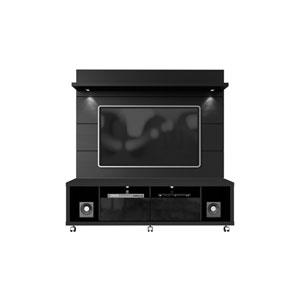 Cabrini Black TV Stand and Panel