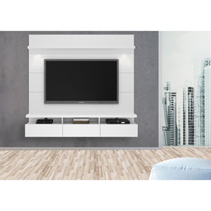 Cabrini White Gloss Theater Entertainment Center Panel