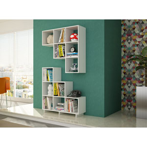Cascavel White Stair Cubby