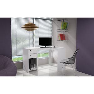 Palermo White Classic L Shaped Desk