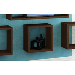Sahara Tobacco Square Floating Decorative Shelf