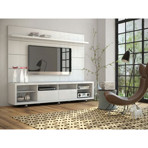 Cabrini White Gloss TV Panel Only