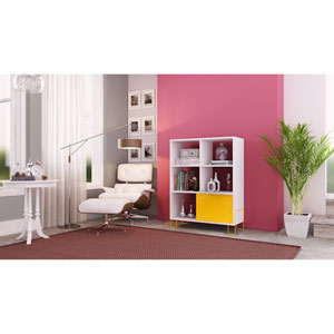 Boden White Mid-High Side Stand