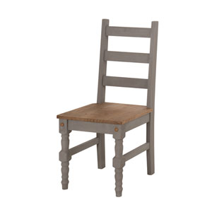 Jay Set of 2 Solid Wood Dining Chair in Gray Wash