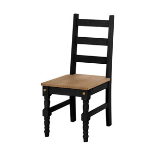 Jay Set of 2 Solid Wood Dining Chair in Black Wash