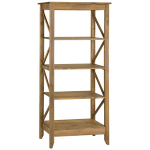 Jay 31.5-Inch Solid Wood Bookcase with 4 Shelves in Nature