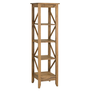 Jay 18.5-Inch Solid Wood Bookcase with 4 Shelves in Nature