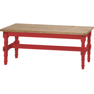 Jay 47-Inch Solid Wood Dining Bench in Red Wash