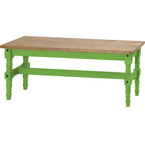 Jay 47-Inch Solid Wood Dining Bench in Green Wash