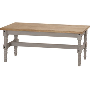 Jay 47-Inch Solid Wood Dining Bench in Gray Wash