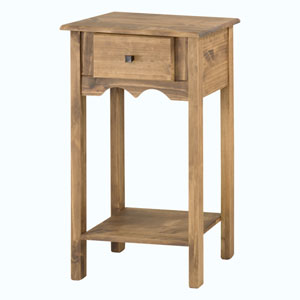 Jay 35-Inch Tall End Table with 1 Full Extension Drawer in Nature